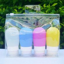 4pcs/Set Empty Spray Bottles 38ml/60ml/80ml Mini Bulb Shape Plastic Refillable Container Cosmetic Containers For Traveling