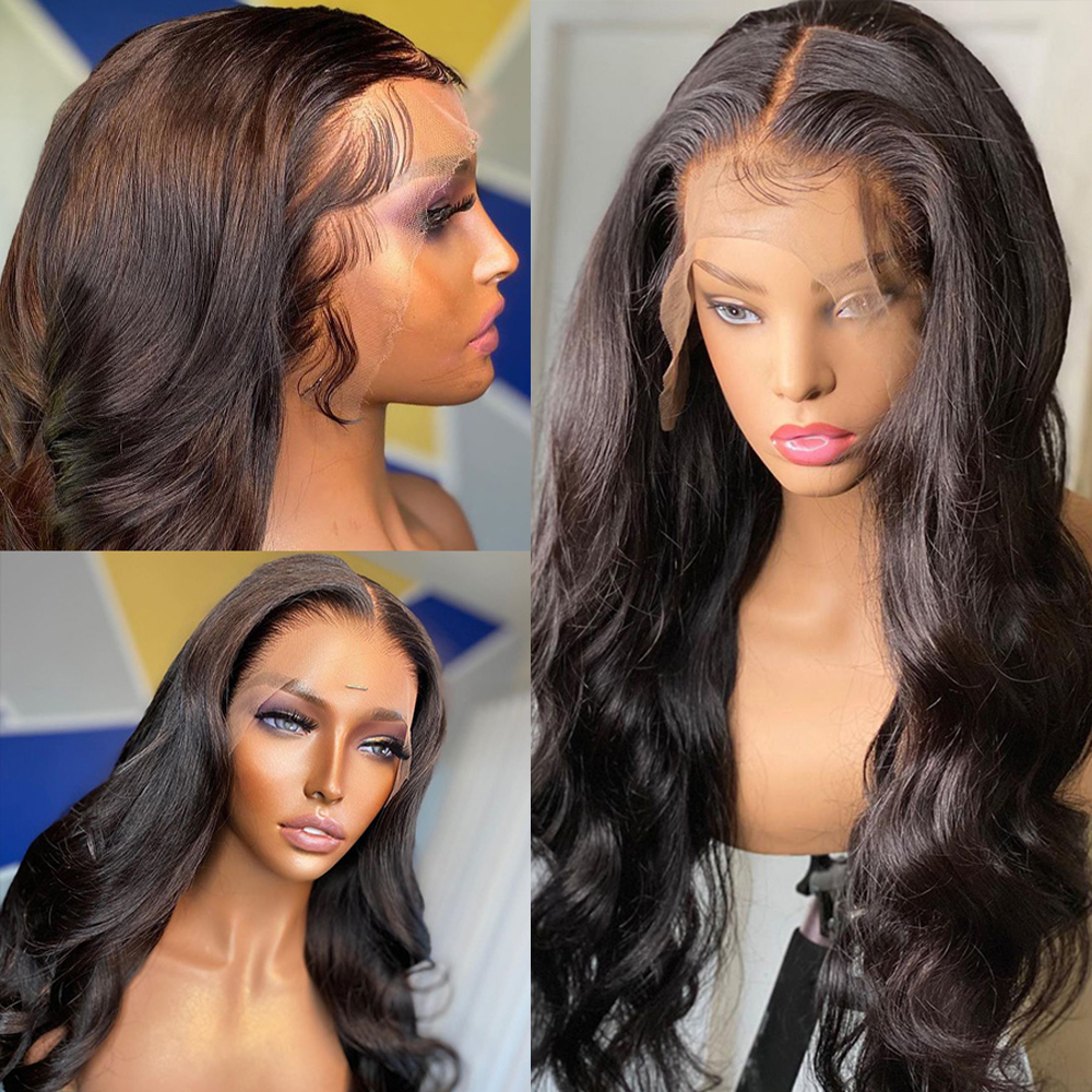 Body Wave Lace Front Human Hair Wigs Transparent Lace Frontal Wig 2