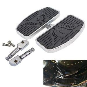 Universal Motorcycle Rear Wide Foot Pegs Rest Footpegs Footrests Footboard For Yamaha Dragstar/Vstar XVS400 XVS650 1988-2013(China)
