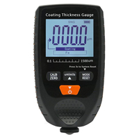 ANENG pantalla Digital 0-1500um probador de espesor de pintura para coche mide el espesor de la chapa chapada y recubierta en Metal