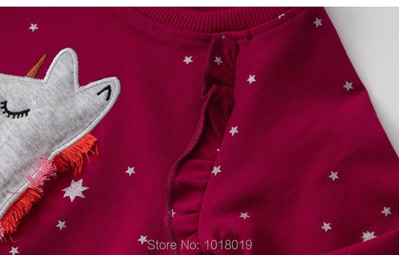 Kids Hoodies Outerwear Bebe Girls Tops Fleeces Sweatshirt Baby Girl Clothes Sweaters 100% Interloop Cotton t shirts Cartoon Tees 4