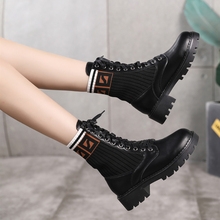 Women Shoes Patent Leather Ankle Boots for Women Fashion Bla