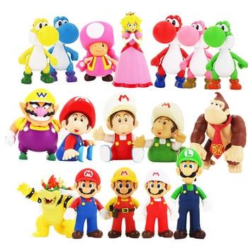Figuras de acción de Super Mario Bros, Luigi, Yoshi, Koopa, Mario Maker...