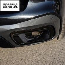 Estilo do carro para bmw x5 x6 x7 g05 g06 g07 automóveis cauda garganta quadro decoração tampas adesivos guarnição tubo de escape acessórios