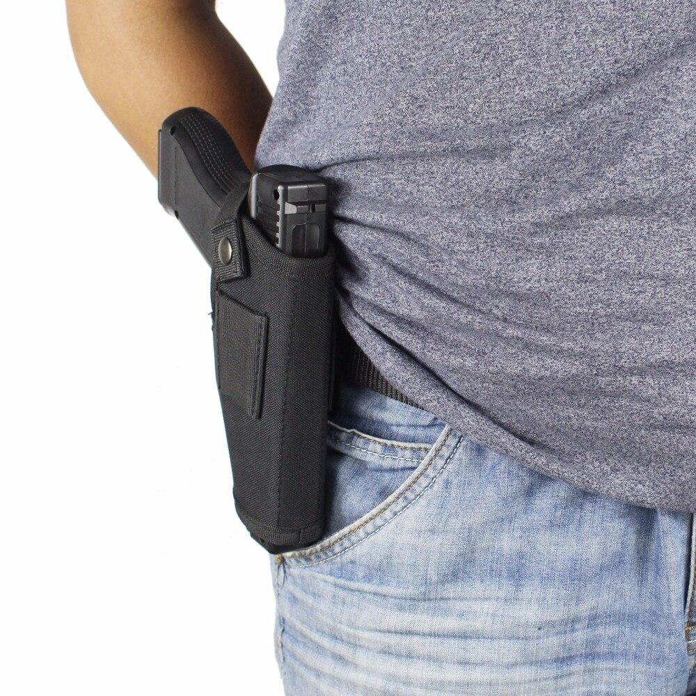 Nuova Custodia per Armi di Portare Nascosto Fondine Clip In Metallo Cintura IWB OWB Holster Airsoft Sacchetto Della Pistola di Caccia Articoli per Tutti I Formati Pistole