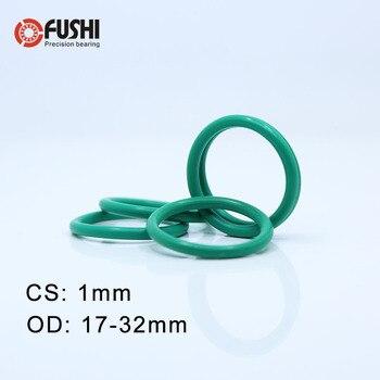 Anillo de goma CS1mm FKM OD 17/18/19/20/22/24/25/ 28/30/32*1mm 50 piezas junta de flúor anillo en O sello de aceite