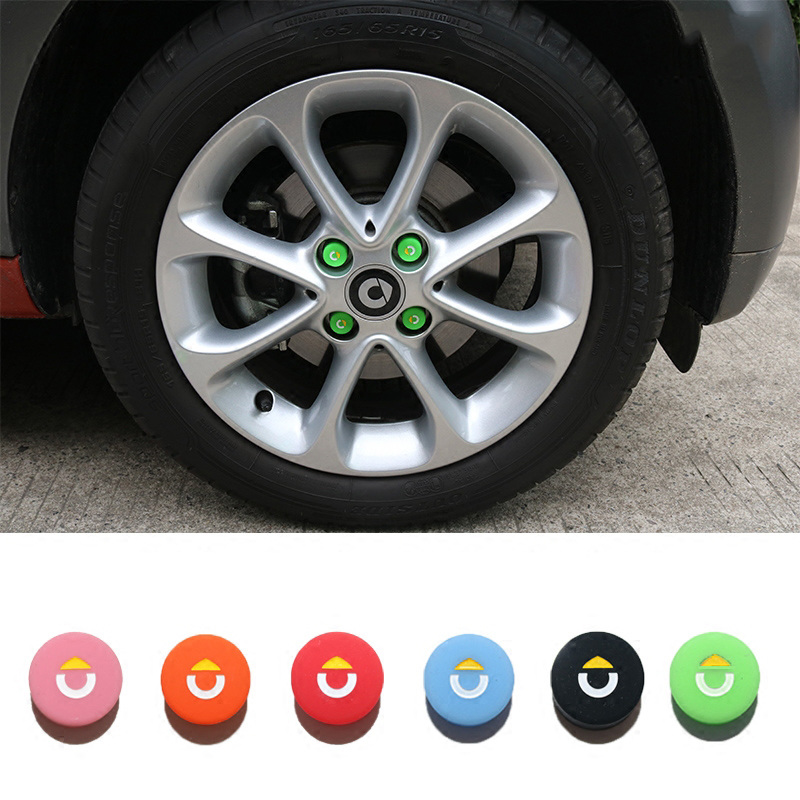 <font><b>Car</b></font> <font><b>Wheel</b></font> Hub Screw <font><b>Cover</b></font> <font><b>Nut</b></font> Caps Bolt Rims For Smart Fortwo Forfour 453 451 450 Crossblade City Coupe Roadster Coupe Forjeremy image
