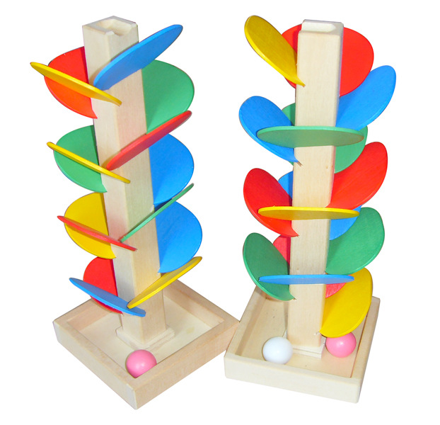 Wooden Toy Color Disassembly Ball Bearing Inverted Bead Game Leaf Tower Children'S Educational Wooden Assembly Toy