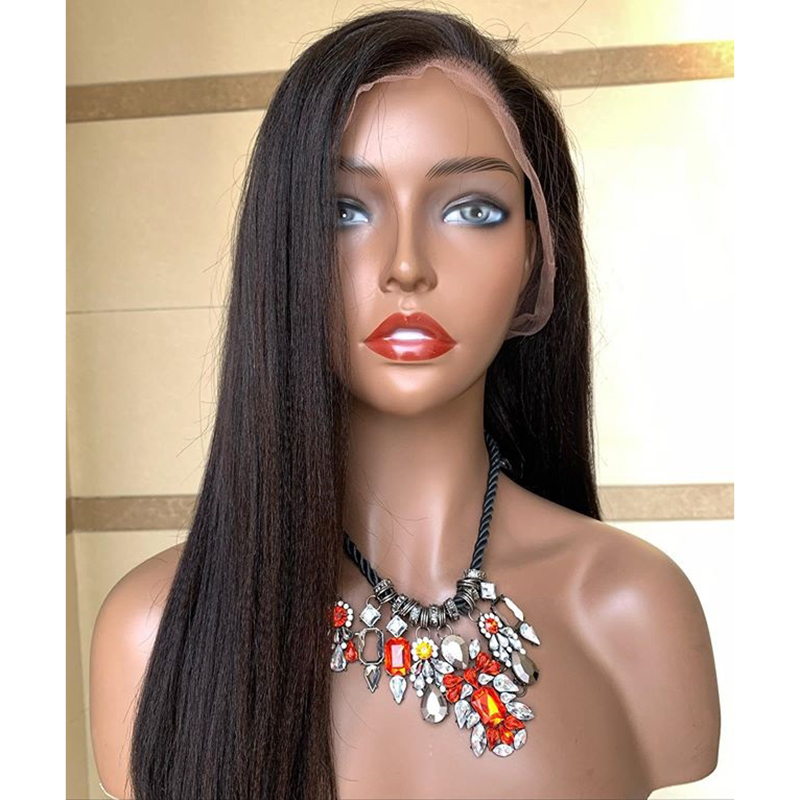 Glueless-Yaki-Straight-Lace-Front-Wigs-Natural-Color-Synthetic-Long-Wigs-Heat-Resistant-Fiber-Hair-for