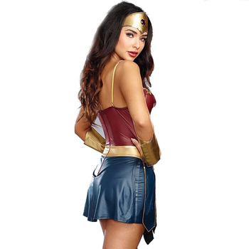 3pcs Adult Justice League Costume Halloween Sexy Women Dress Up Dress Cosplay Superhero Wonder Woman Cosplay Costume deluxe superman aquaman cosplay costume adult men justice league superhero jumpsuit halloween costume men adult