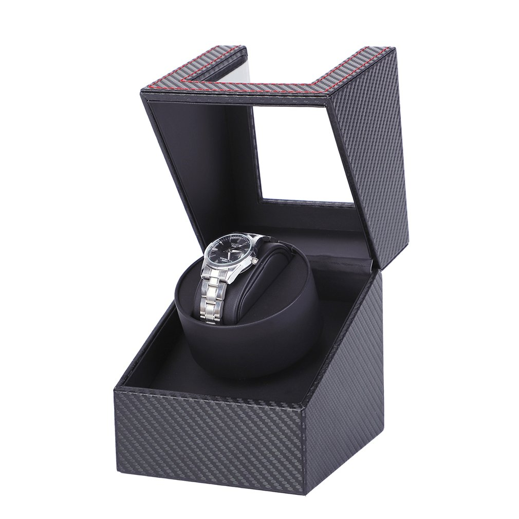 Carbon Motor Shaker Watch Winder Holder Display Automatic Mechanical Watch Winding Box Jewelry Automatic Watch EU/US/UK/AU 2020