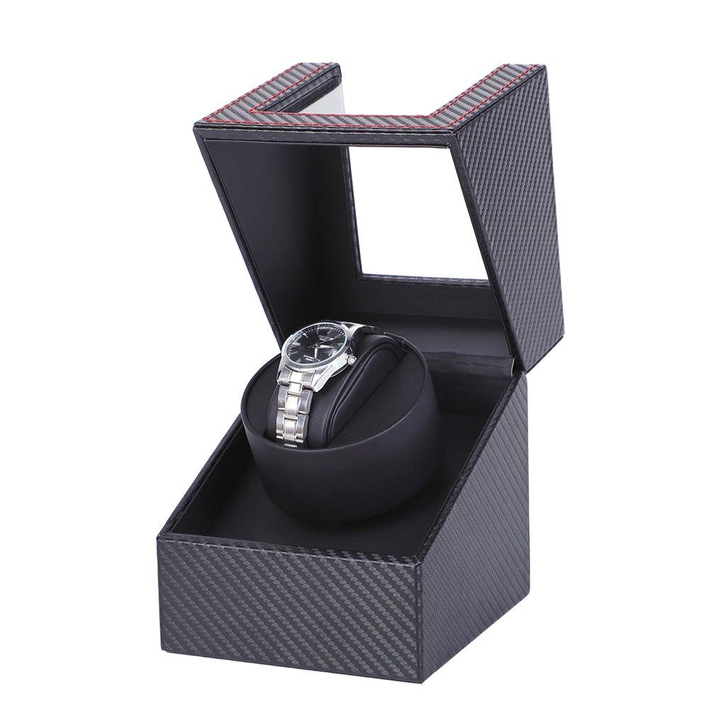 Carbon Motor Shaker Watch Winder Holder Display Automatic Mechanical Watch Winding Box Jewelry Automatic Watch EU/US/UK/AU 2019