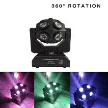 Luz con cabezal móvil para escenario, barra de discoteca, dj, luces de fiesta, 150W, DMX, 360 °