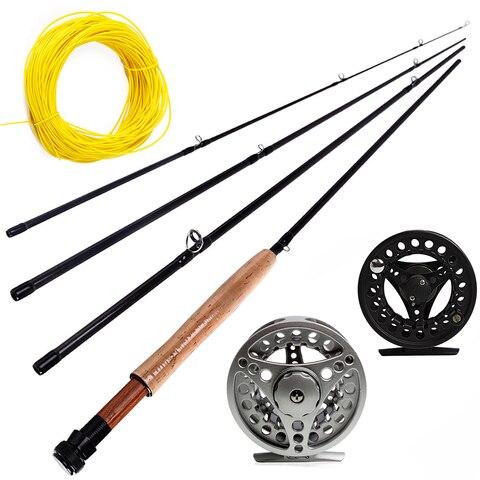 sougayialng 2 7 m conjunto vara de pesca com mosca 5 6 voar vara e