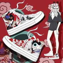 Amy e Michael New Style Women Vulcanize Shoes Ladies Casual High Top White Sneakers scarpe di tela dipinte a mano di design speciale