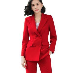 Image 1 - Elegante Lange damen blazer mit tasten Frauen Feste Jacke von hohe qualität Outwear mantel Schwarz Rosa Weiß; Blau Champagner