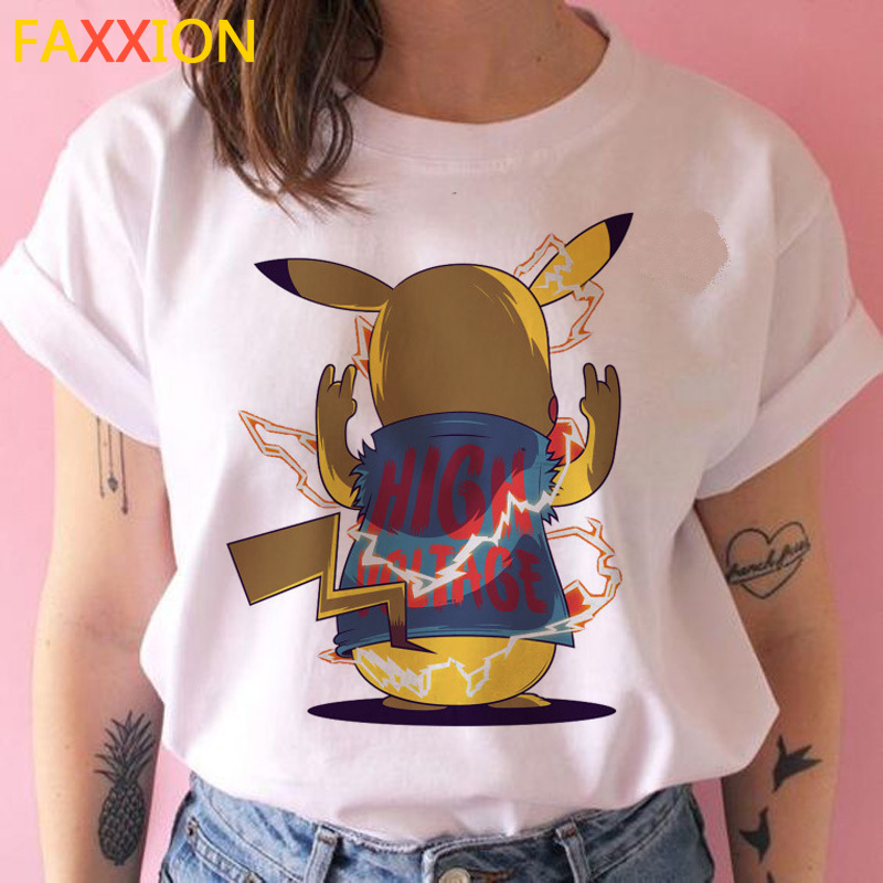 Pokemon Ir Pikachu T Camisa Feminina Ulzzang Engracado Dos
