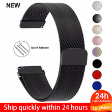 20Mm 22Mm 18Mm Samsung Galaxy Horloge Band 42 46Mm Bandjes Loop Milanese Band Rvs Active2 40 44 Gear S3 14 16 18 24Mm(China)