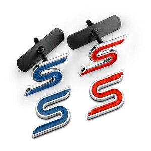 3D металлические наклейки для автомобиля, автомобильные аксессуары для Ford Fusion focus 2 ST RS S