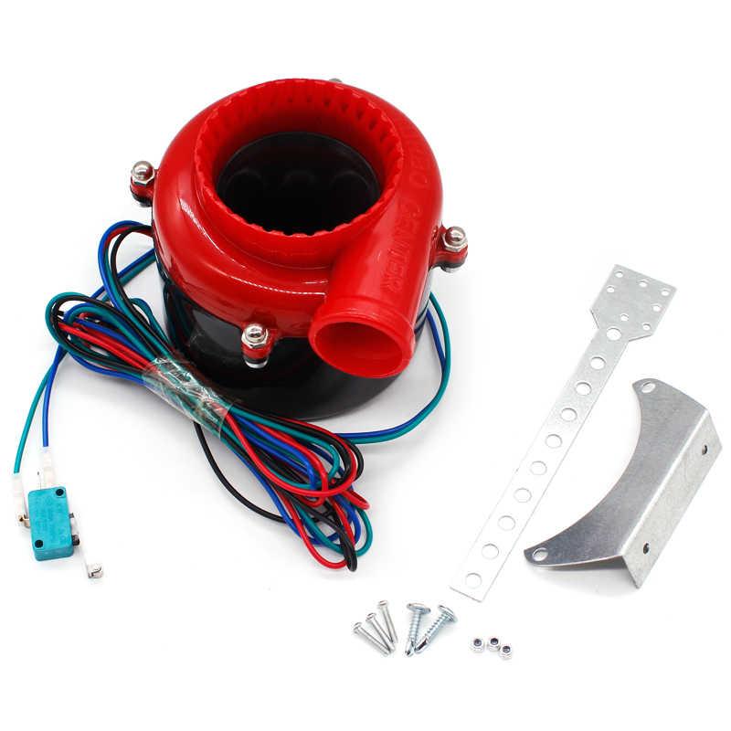Uniwersalny elektroniczny turbo samochód fałszywy zrzut elektroniczny turbo cios Off Hooter zawór dźwięk elektryczna turbo zdmuchnąć analogowy dźwięk BOV