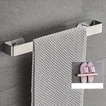 Stainless Steel Wall Mounted Bathroom Toilet Towel Rack Holder Bath Towel Bar Hanger Shelf Organizer gappo towel bars bathroom stainless steel towel accessories bath hardware towel holder hanger porte serviette