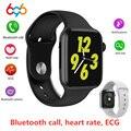 696 W34 Bluetooth Anruf Smart Uhr Herzfrequenz EKG Monitor iwo 8 lite Smartwatch für Android iPhone xiaomi band PK iwo 8 10 11 12-in Smart Watches aus Verbraucherelektronik bei