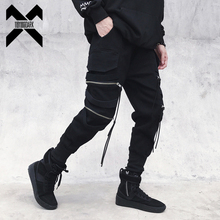 11 BYBB'S DARK Harajuku Streetwear Joggers Pants Men Fashion Autumn Pencil Pants Hip Hop Elastic Waist Ribbon Trousers Male GY81