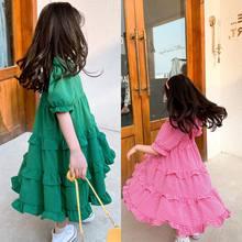 Детское кружевное платье, летняя клетчатая юбка с открытой спиной для девочек, детская юбка, детская одежда