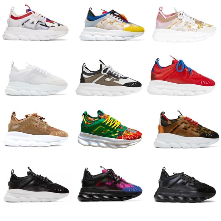 Zapatillas de deporte de cadena de reacción zapatillas de diseñador zapatos deportivos para hombre y mujer zapatos casuales de cuero entrenador suela ligera con caja 36-45