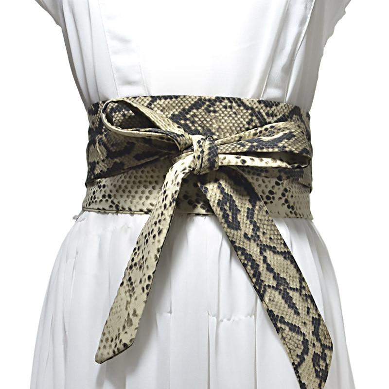 2020 New Soft Silk Wide Belt For Women Cloth-Wraped Buckle Woman Waistband Female Satin Corset Belts Cummerbund Lady