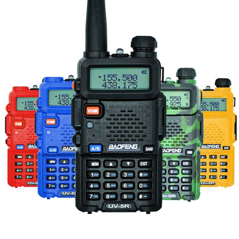 Outdoor UV-5R Walkie Talkie Professional CB Radio Station Baofeng UV5R Transceiver 5W VHF UHF Portable UV 5R Hunting Ham Radio