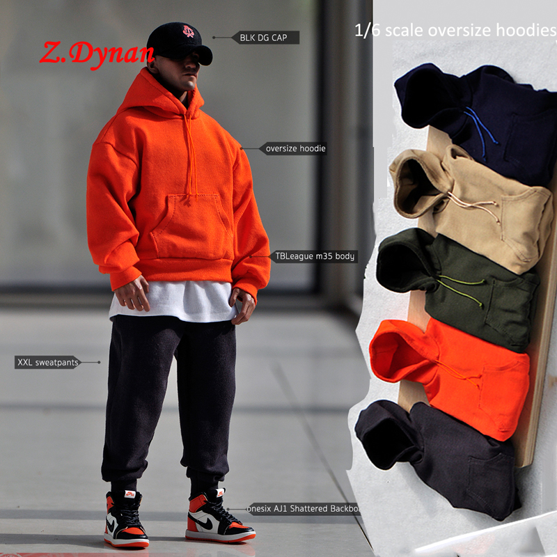 MagiDeal 1//6 Scale Cowboy Jacket Sweatpants Hoodie Top for 12/'/' Male