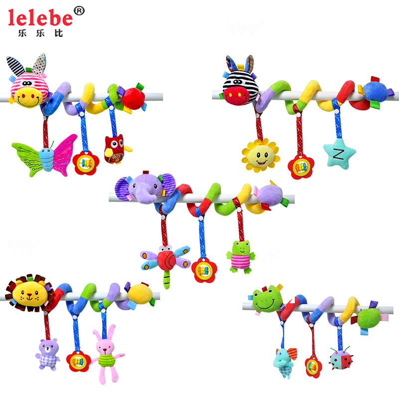 Baby Toys 0-12 Months Lovely Animal Baby Crib Revolves Around The Bed Stroller Playing Toy Car Lathe Hanging Baby Rattles Lelebe