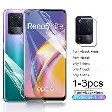 Camera Glass Hydrogel Film On For Oppo Reno 5 Lite Screen Protector For Reno 5Lite Reno5 4G 5G Reno5Lite Light Protective Films