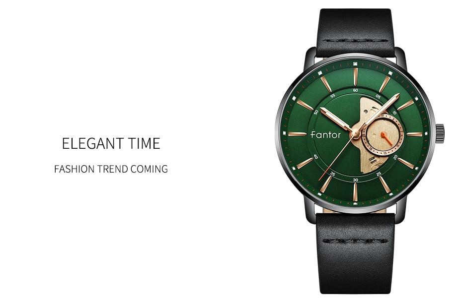 casual men green whatch masculino relógios de