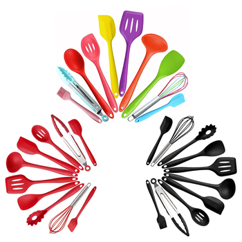 10Pc Heat Resistant Silicone Cookware Set Non Stick Cooking Tools Kitchen & Baking Tool Kit Utensils 1