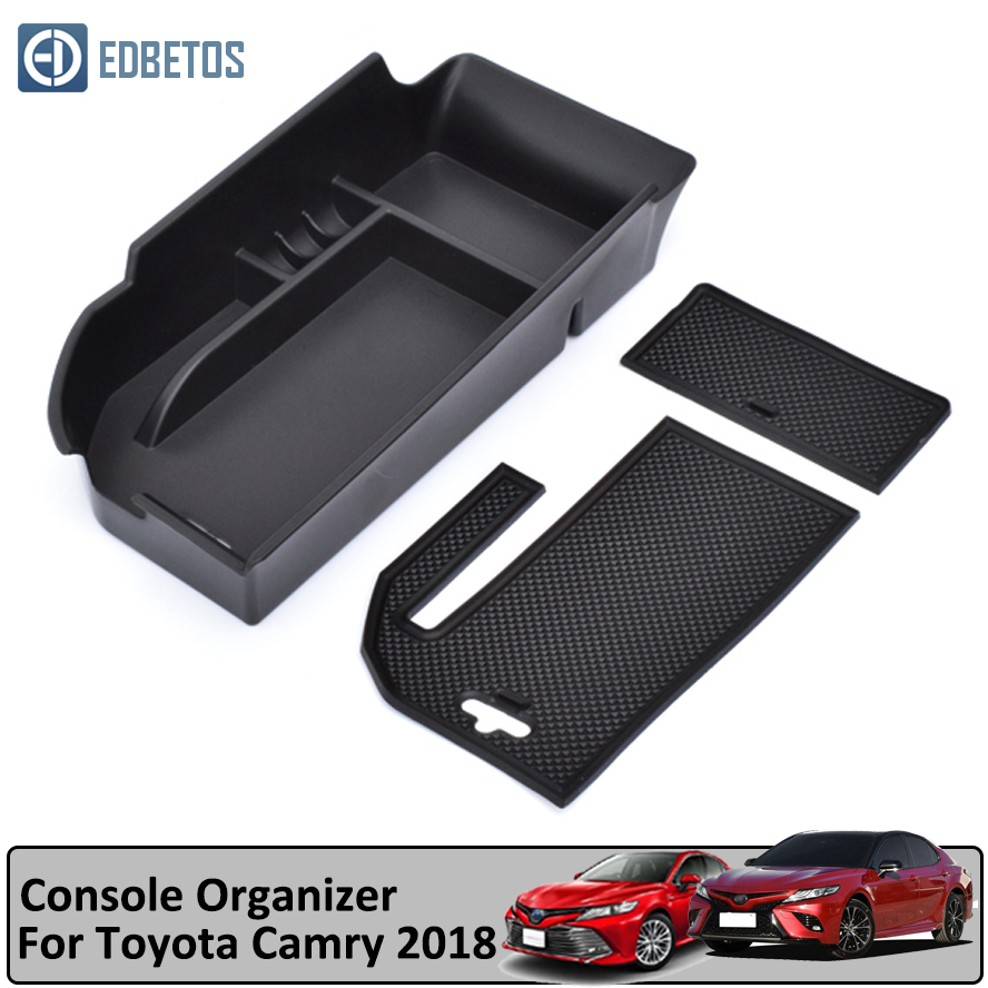 Toyota Camry Accessories >> Us 1 76 33 Off Center Console Organizer Tray For Toyota Camry 2018 2019 2020 Lhd Armrest Secondary Glove Box Camry Accessories Container Holder On