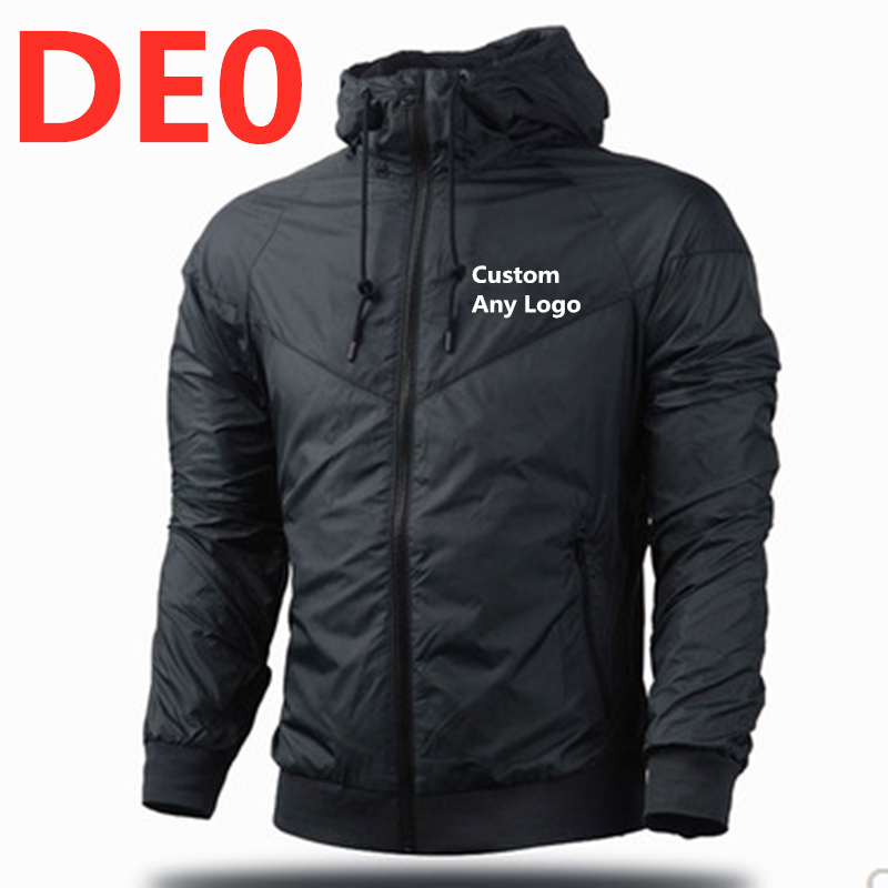 DE0 Fashion New Men's Anorak Jacket Windbreaker Men Zipper Patchwork Waterproof Jackets Male MC Streetwear Autumn Bomber Jacket