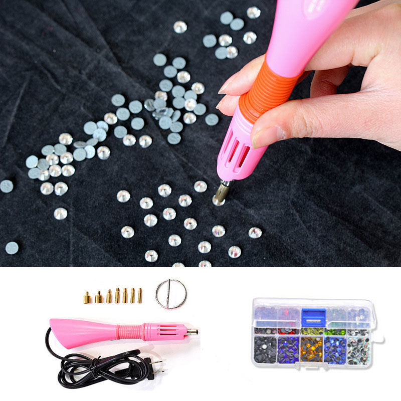437.98руб. 40% OFF|1000/2000PCS Rhinestones Fix Applicator with 7 Tips Fast Heated Rhinestone Hot Fix Applicator Strass Iron on Tools EU/US Plug|Rhinestones| |  - AliExpress