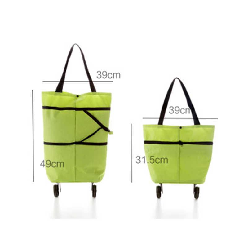 Torba na kółkach lekki składany składany koszyk na zakupy bagaż torba podróżna z kółkami Home Case Containe