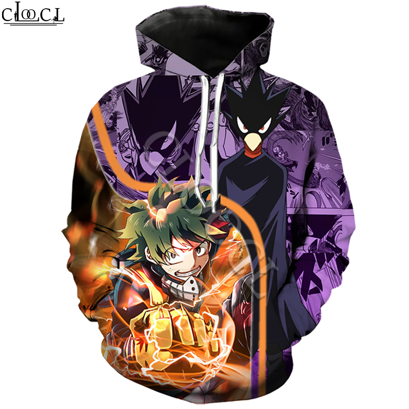 My Hero Academia Boku No Hero Tokoyami 3D Print Hoodie Men Women Harajuku Sweatshirt Casual Hooded Coat Drop Shipping
