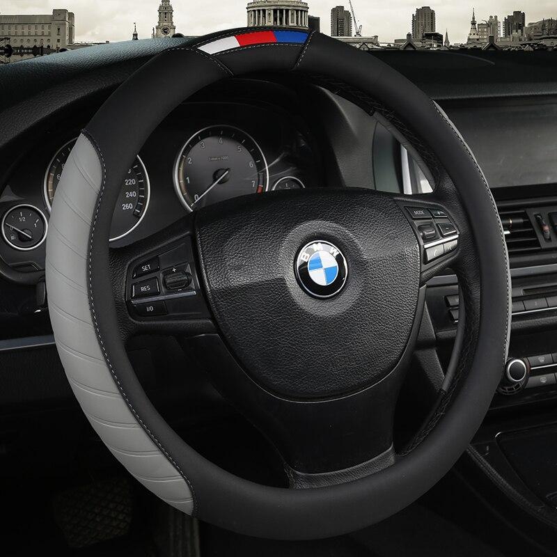 Чехлы рулевого колеса автомобиля анти-скольжения кожа Range Rover Sport Авто рулевое колесо крышка автомобилей руль Защитная крышка авто-Стайлинг