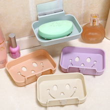 Newest 3 size Creative silicone soap box kitchen bathroom continuous drainage laundry