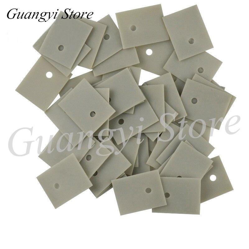 10pcs Aluminium Nitride Ceramic Substrate Thermal Conductive Insulating Ceramic TO-220/247/264/3P/3 Aluminium Nitride