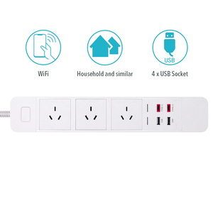 Image 5 - WiFi חכם כוח רצועת לשקע הארכת Socket עם USB סוג c Surge הגנה אינטליגנטי תקע מרחוק עבור Alexa Google בית