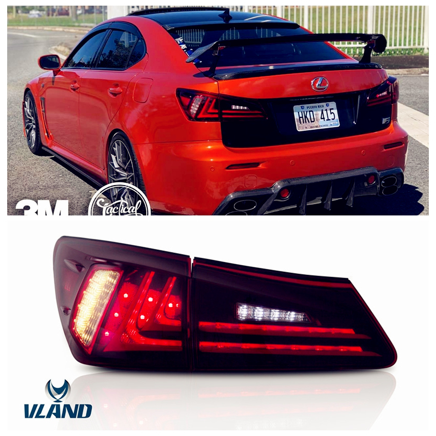 VLAND Factory For Car Taillight For <font><b>IS</b></font> <font><b>250</b></font> LED Tail Lamp 2006 2008 <font><b>2010</b></font> 2012 For <font><b>IS</b></font> 350 Rear light with plug and play image