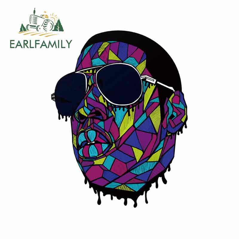 EARLFAMILY 13cm x 9.9cm for Rap Gangster Art Print Fine Stickers Vinyl Car Sticker 3D Occlusion Scratch Personality Decals(China)