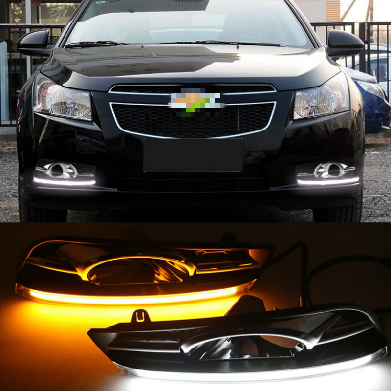 2 pcs LED DRL Driving Daytime <font><b>Running</b></font> <font><b>Light</b></font> With Turn Signal lamp for <font><b>chevrolet</b></font> <font><b>cruze</b></font> 2009 2010 <font><b>2011</b></font> 2012 2013 2014 image