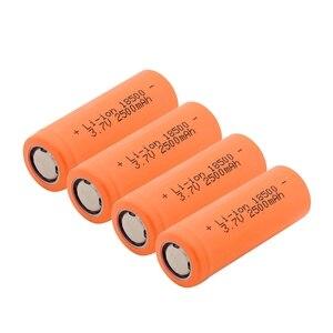 YCDC 1-10Pcs 18500 Battery 3.7V 2500mAh Rechargeable Battery 18500 Bateria Recarregavel Lithium li-ion Batteies Baterias