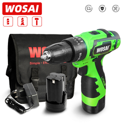 WOSAI MT Series Electric Screwdriver Cordless Drill 25+1 Torque 16V Electric Impact Drill Lithium Battery 36NM Impact Hand Tools